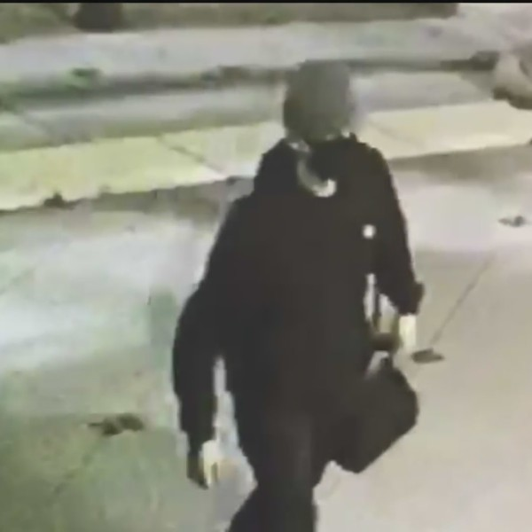 A security camera image obtained by KTLA shows a suspect in a burglary and possible hate crime vandalism at a Chino banquet hall on May 24, 2020.