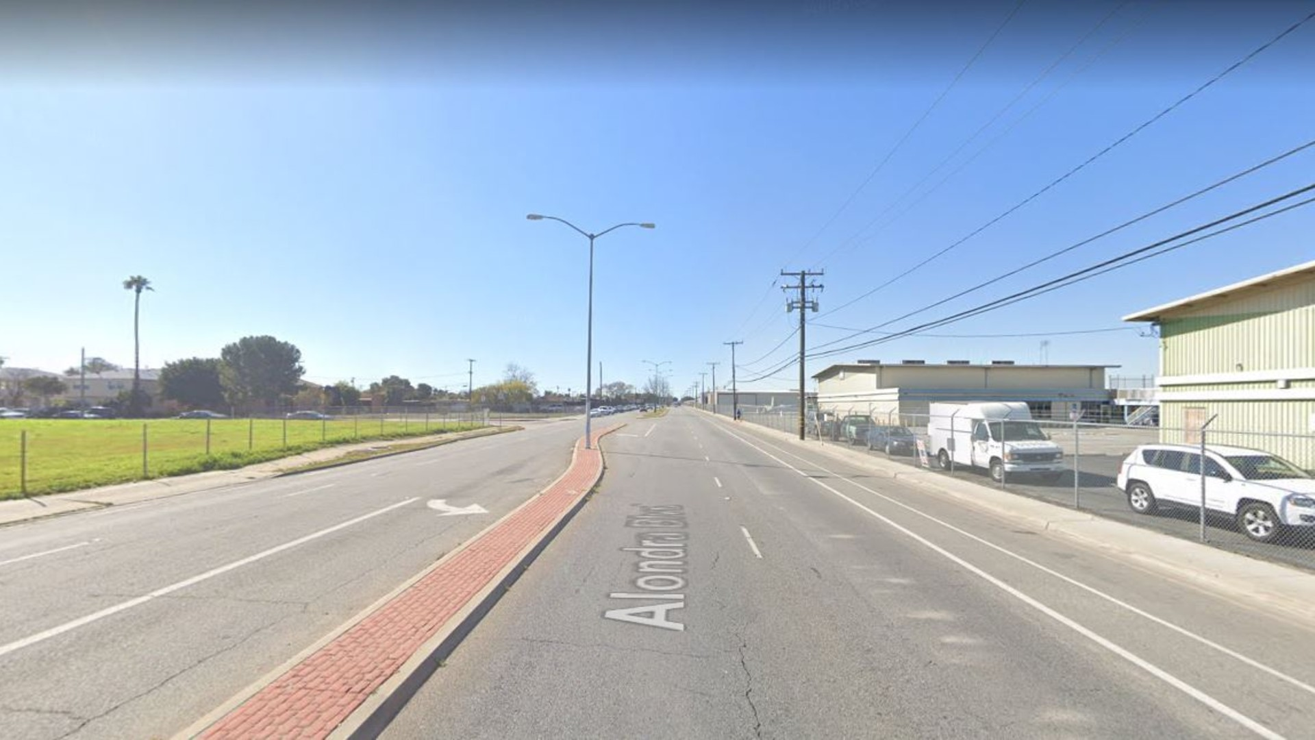 The 1000 block of West Alondra Boulevard in Compton, as viewed in a Google Street View image.