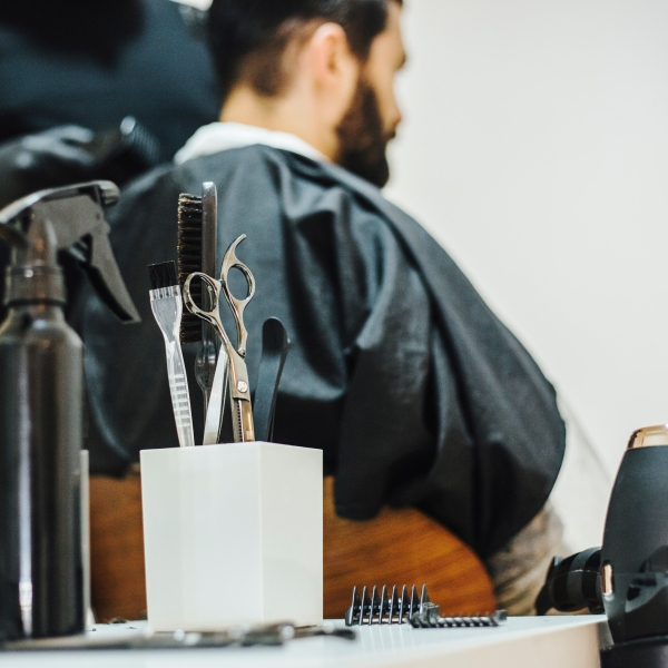 A file photo shows a barber cutting a man's hair. (Getty Images)