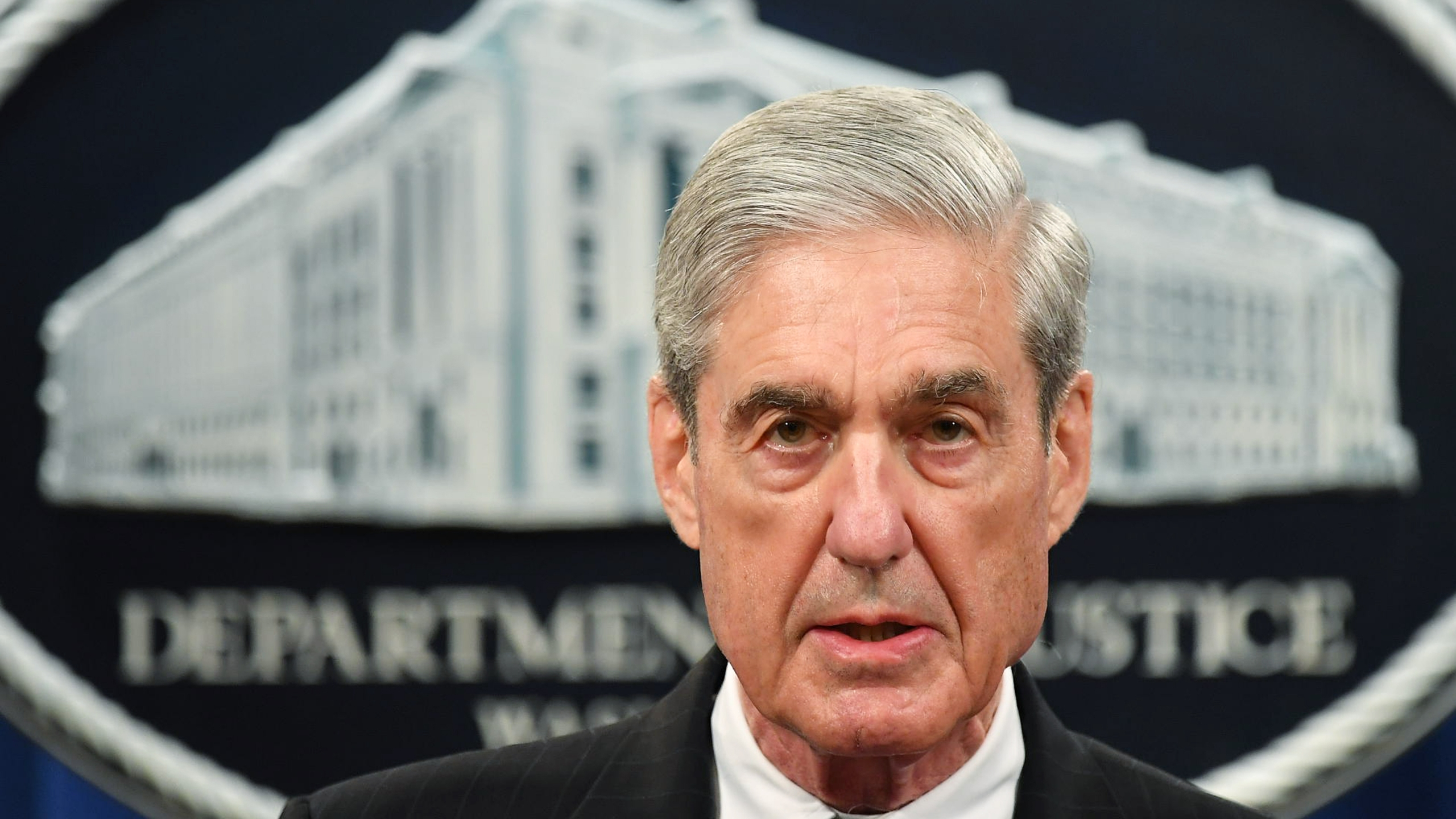 Special Counsel Robert Mueller speaks on the investigation into Russian interference in the presidential election at the U.S. Justice Department on May 29, 2019. (MANDEL NGAN/AFP via Getty Images)