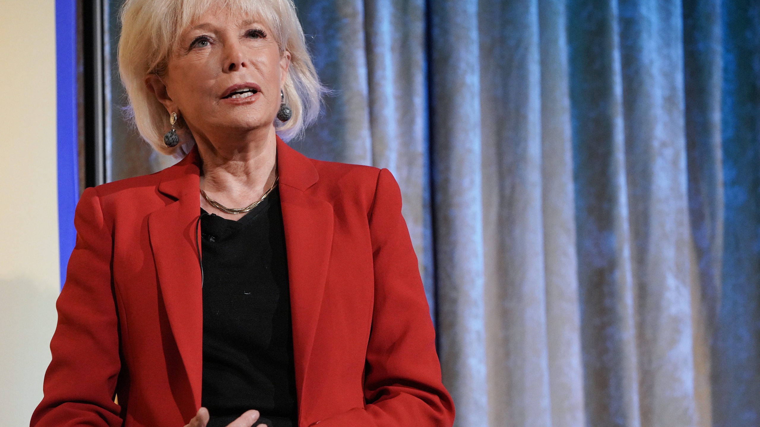 Journalist Lesley Stahl speaks onstage at the 13th Annual (Em)Power Breakfast on October 10, 2019, in New York City. (Jemal Countess/Getty Images for Student Leadership Network)
