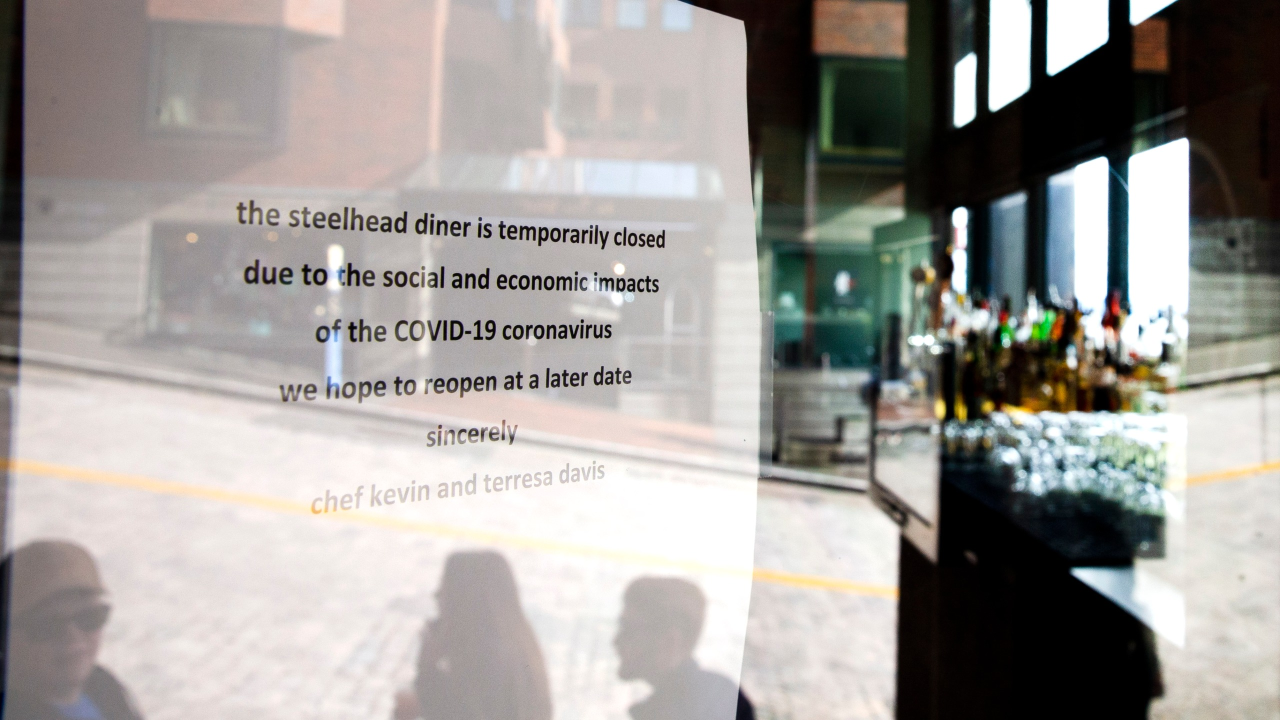 The Steelhead Diner is closed on March 8, 2020 in Seattle, Washington. (Karen Ducey/Getty Images)