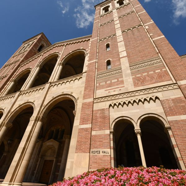 Royce Hall on the campus of University of California Los Angeles is seen on March 11, 2020. (ROBYN BECK/AFP via Getty Images)