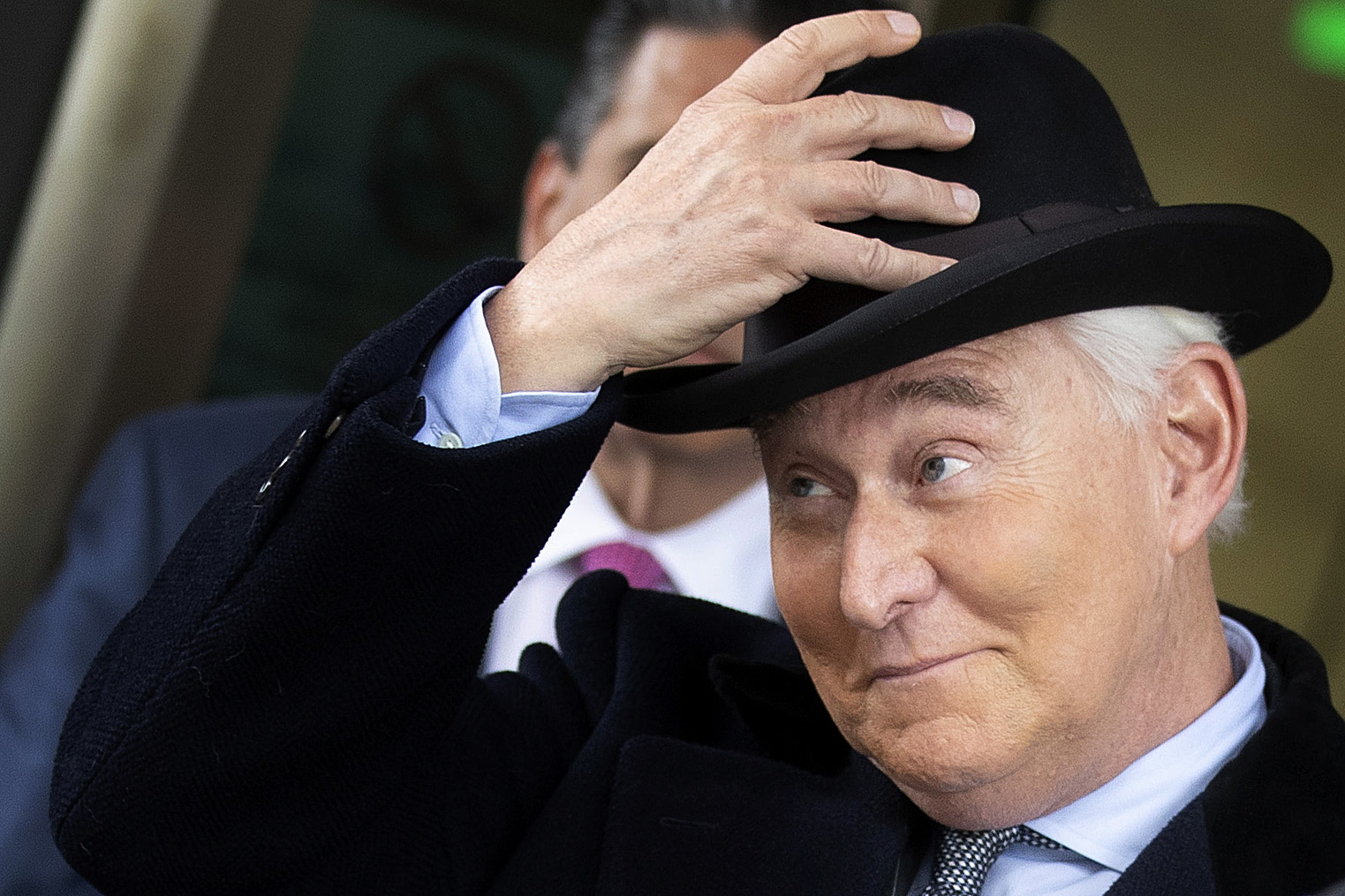 Roger Stone, former adviser and confidante to U.S. President Donald Trump, leaves the Federal District Court for the District of Columbia after being sentenced February 20, 2020 in Washington, DC. (Chip Somodevilla/Getty Images)