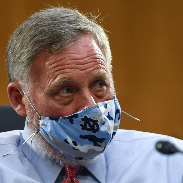 Sen. Richard Burr (R-NC) listens to testimony during the Senate Committee for Health, Education, Labor, and Pensions hearing on COVID-19 May 12, 2020 in Washington, D.C. (Toni L. Sandys-Pool/Getty Images)