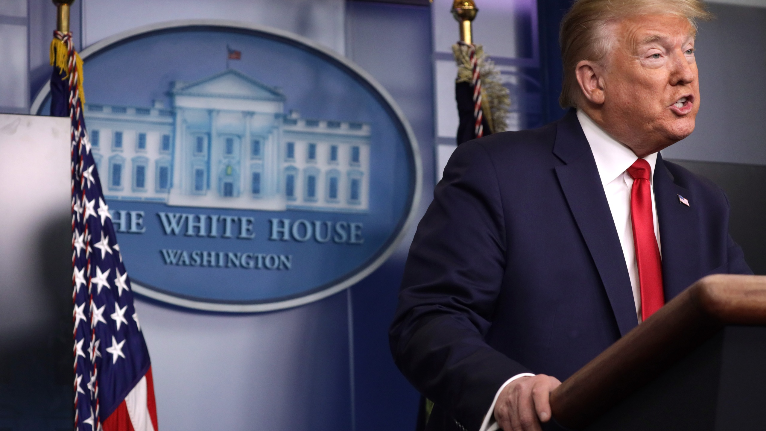 Donald Trump makes a statement in the briefing room at the White House on May 22, 2020 in Washington, D.C. (Alex Wong/Getty Images)