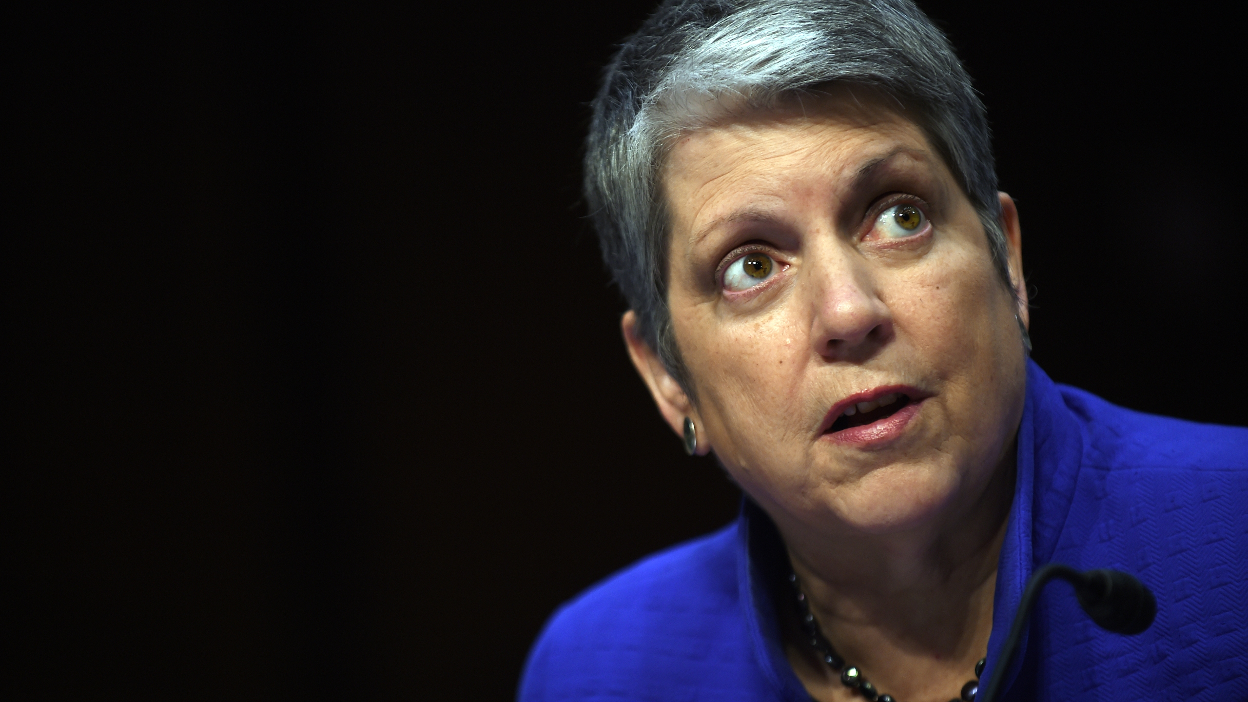 Janet Napolitano, president of the University of California, speaks during a hearing on July 29, 2015, in Washington, DC. (Astrid Riecken/Getty Images)