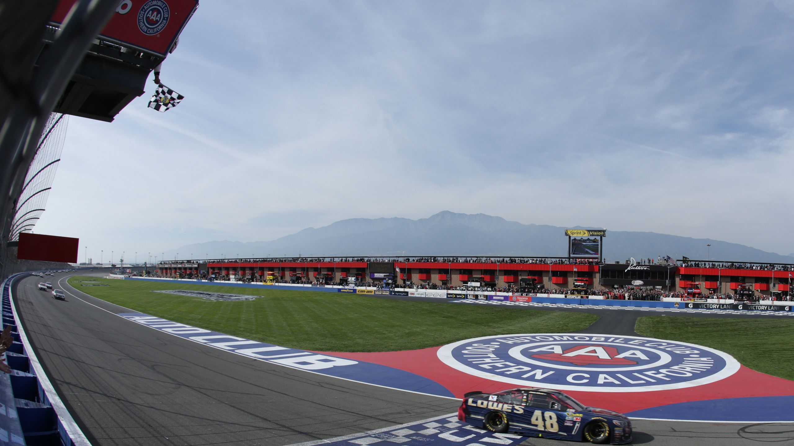 The NASCAR Sprint Cup Series Auto Club 400 is held at the Auto Club Speedway in Fontana on March 20, 2016. (Jeff Gross/Getty Images)