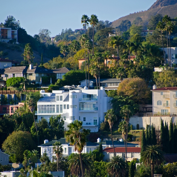 The Hollywood Hills area is seen in an undated file photo (Getty Images)
