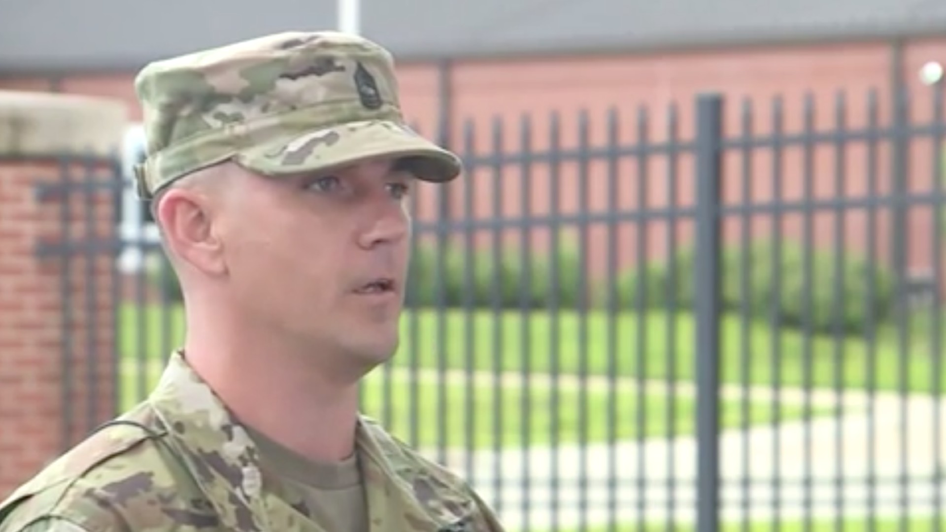 Master Sgt. David Royer is intervened after the incident. (KMBC)