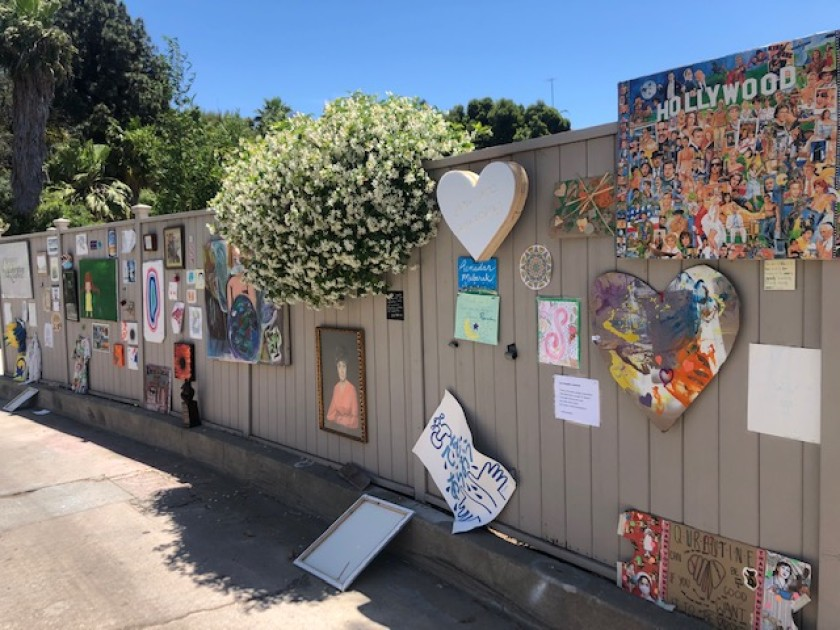 The Museum of Quarantine in the Hollywood Dell neighborhood is seen in May 2020. (Jessica Gelt / Los Angeles Times)