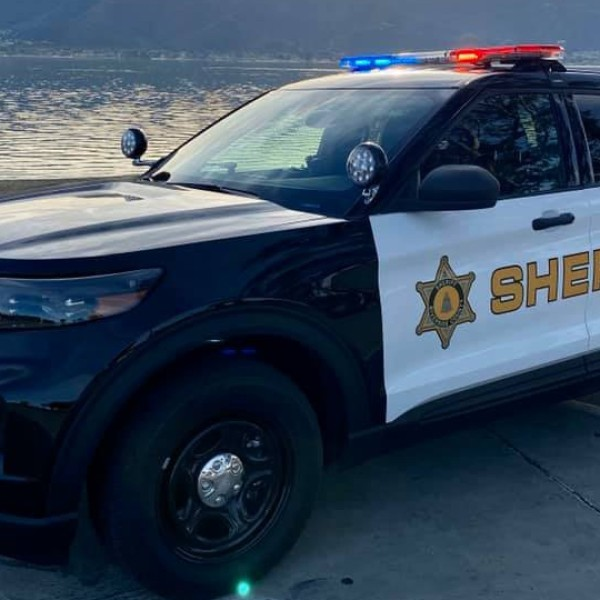 A Riverside County Sheriff's Department patrol SUV is seen in a photo from the Lake Elsinore Sheriff's Station's Facebook page.