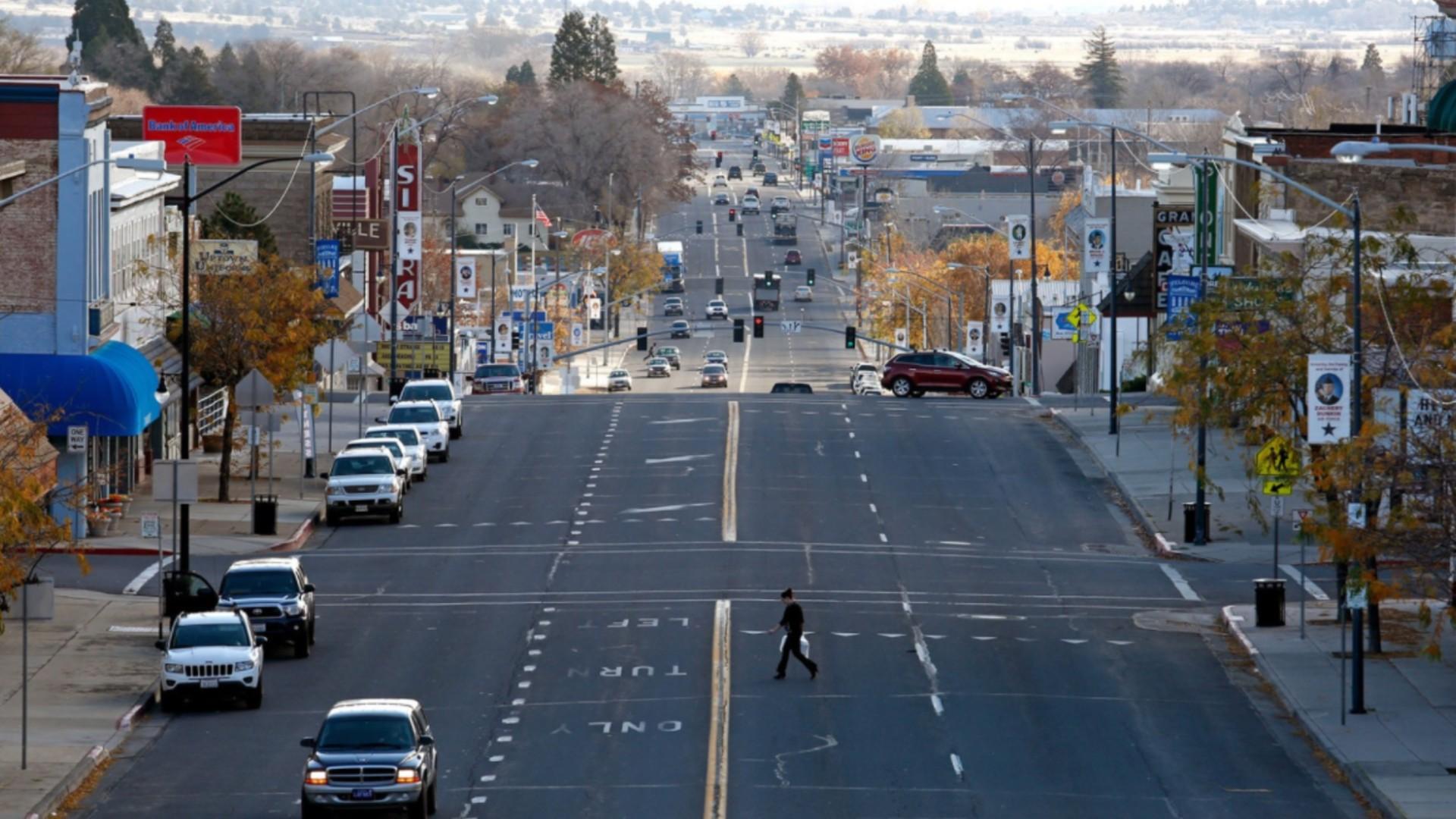 Main Street in Susanville, the seat of Lassen County, is seen in a file photo. (Gary Coronado / Los Angeles Times)