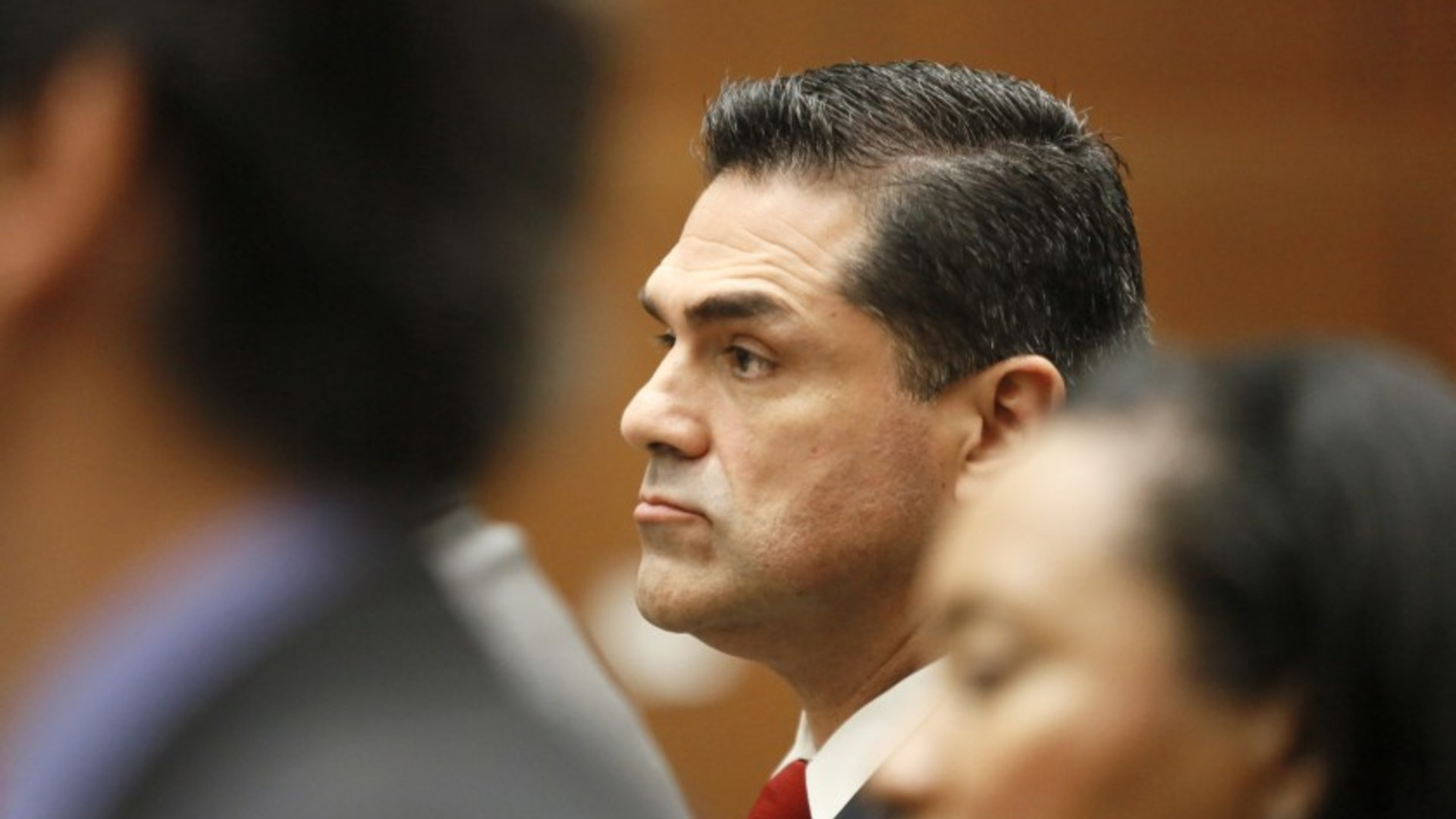 Former L.A. County Assessor John Noguez appears in a downtown Los Angeles courtroom.(Irfan Khan/Los Angeles Times)