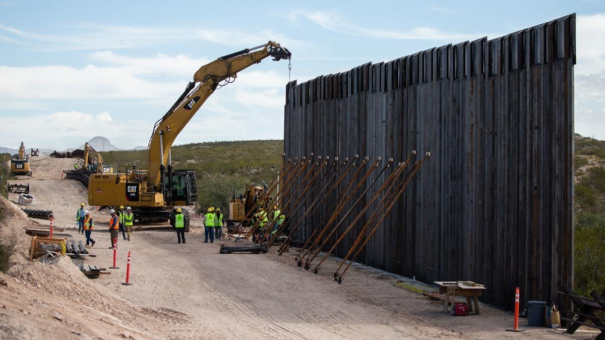 North Dakota company Fisher Sand and Gravel has been awarded a major border wall construction contract valued at more than $1.2 billion, a US Army Corps of Engineers spokesperson told CNN. (Josh Galemore/Arizona Daily Sun via CNN Wire)