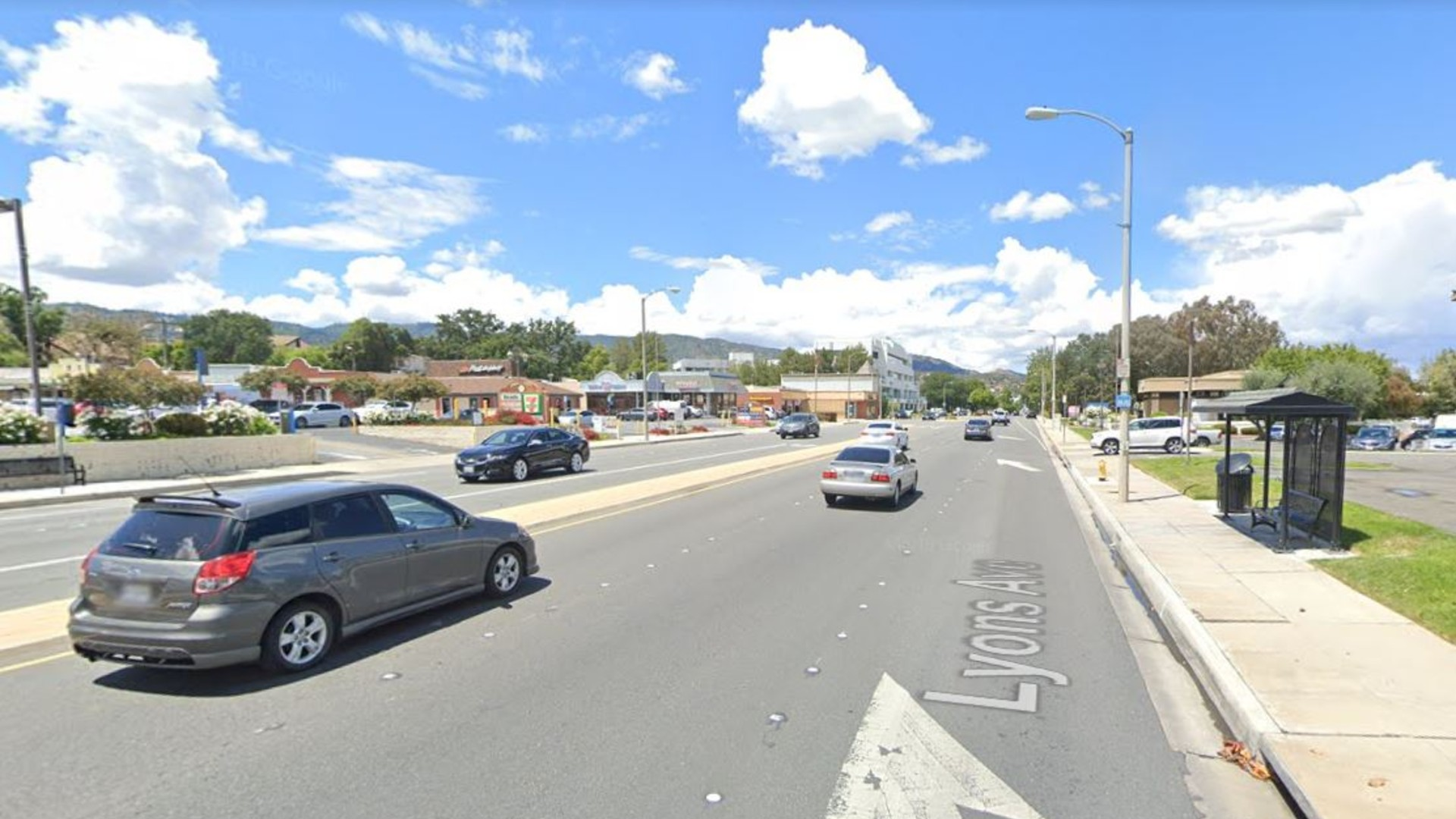 The 23400 block of Lyons Avenue in Santa Clarita, as viewed in a Google Street View image.