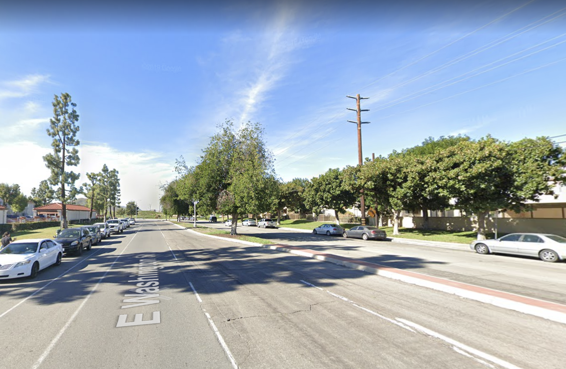 The 800 block of East Washington Street in Colton appears in this image from Google Maps.