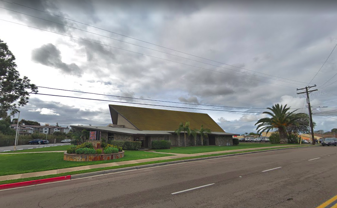 A Google Map images shows the Hilltop Tabernacle Church in Chula Vista.