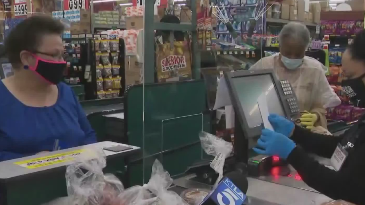 Shoppers surprised with free groceries in Vermont-Slauson