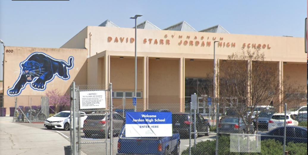 Jordan High School in Long Beach is seen in an undated photo on Google Maps.