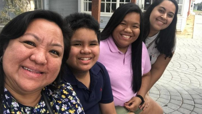 Arlene Aquino, left, is seen in an undated photo posted on a GoFundMe page on May 7, 2020.