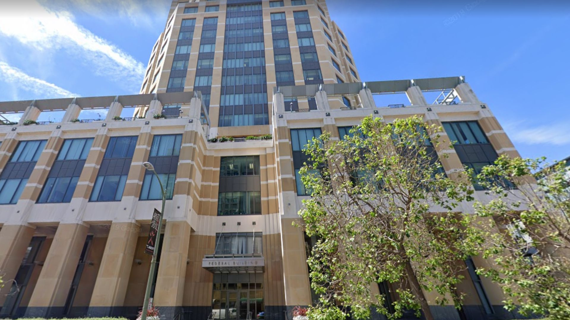 A Google Maps image shows the Ronald V. Dellums Federal Building in Oakland.