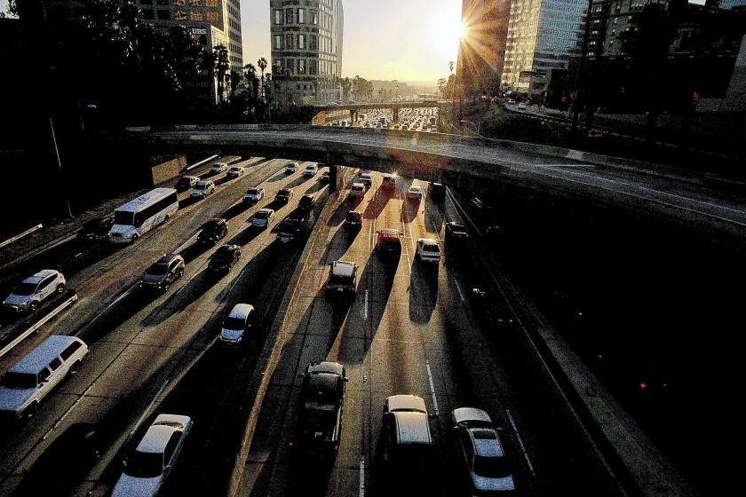 The 110 Freeway on a Friday afternoon.(Luis Sinco / Los Angeles Times)
