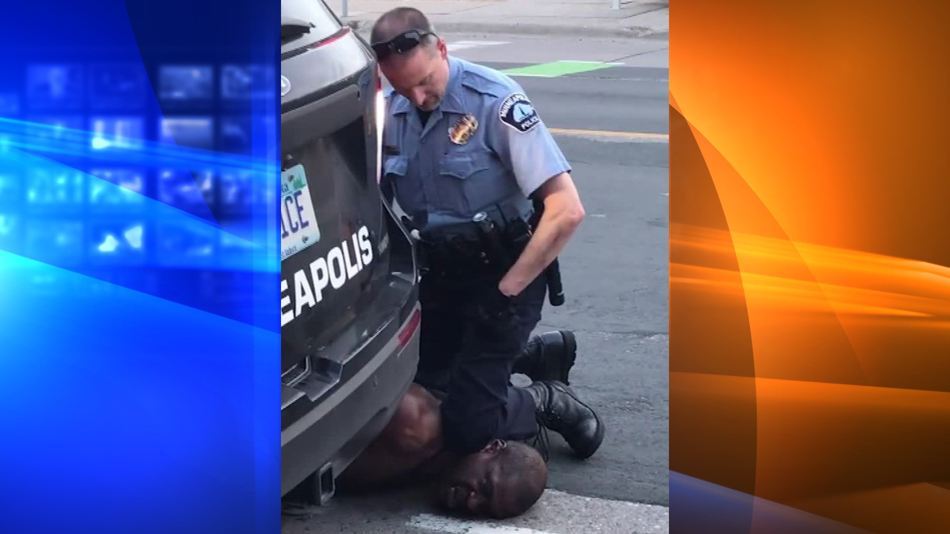 Officer Derek Chauvin is shown kneeling on George Floyd's nexk on May 25, 2020, in a still from a video taken by Darnella Frazier and distributed by CNN.