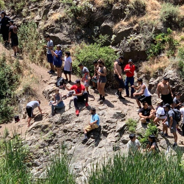 Paradise Falls attracted large crowds over Memorial Day Weekend. (Conejo Open Space Conservation Agency)