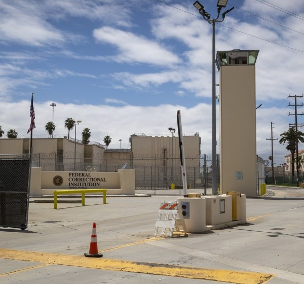 The Terminal Island facility in San Pedro is one of two prisons targeted in a pair of lawsuits.(Allen J. Schaben / Los Angeles Times)