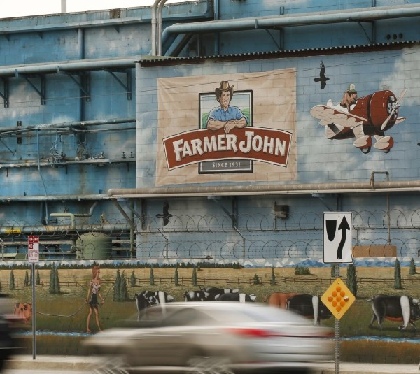 At least 153 workers at the Farmer John plant in Vernon have been diagnosed with COVID-19. (Al Seib / Los Angeles Times)