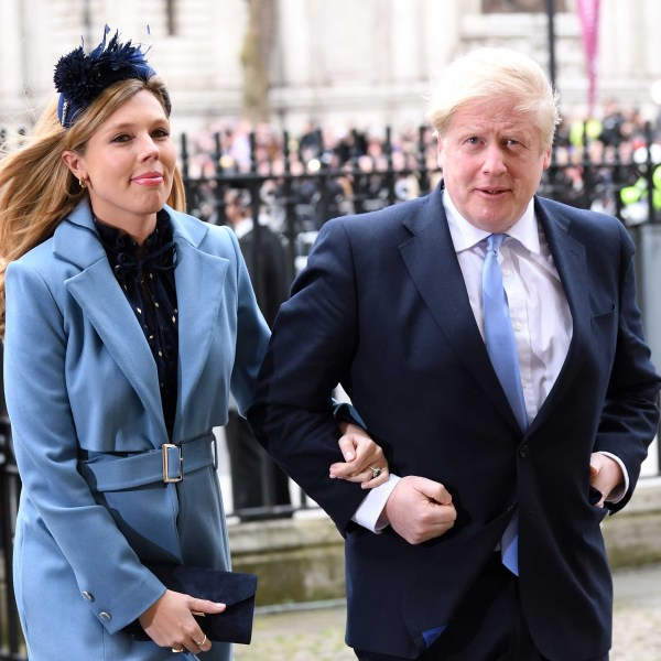 Prime Minister of Great Britain Boris Johnson and Carrie Symonds attend the Commonwealth Day Service 2020 at Westminster Abbey on March 09, 2020, in London, England. (Karwai Tang/WireImage)