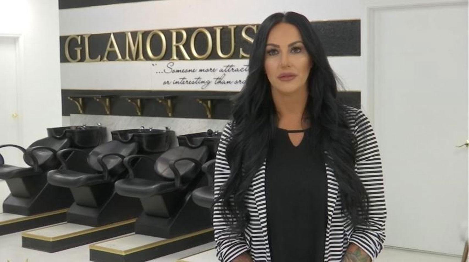 Lindsey Graham is seen inside Glamour Salon, the business she owns in Salem, Oregon. (KPTV via CNN)