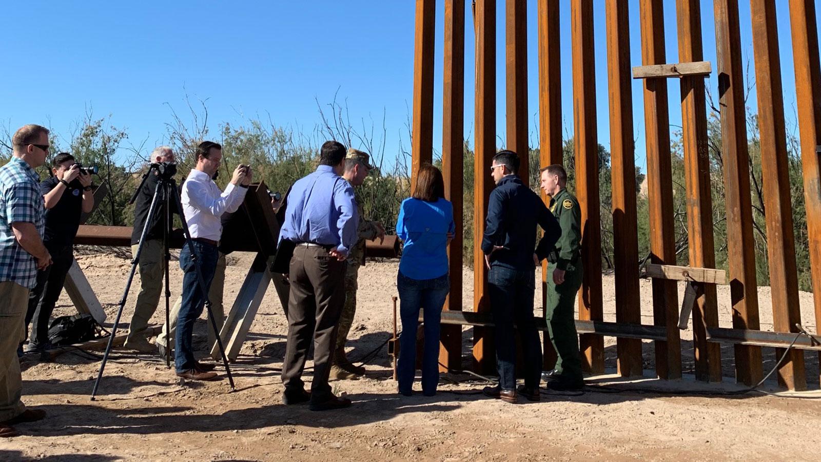 The U.S.-Mexico border wall is seen in an undated photo. (Jason Kravarik/CNN)