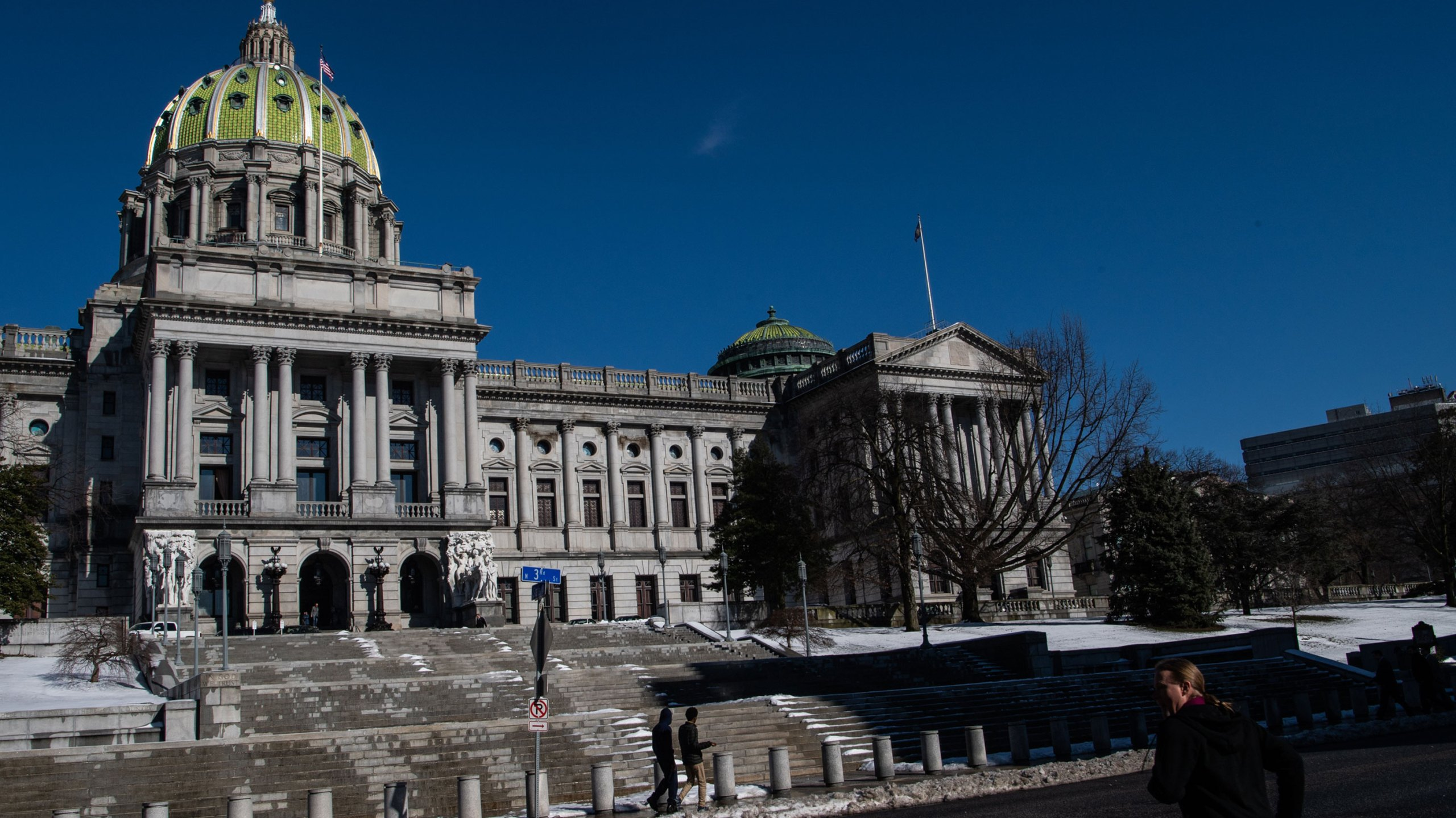The Pennsylvania State Capitol is seen on Thursday, February 21, 2019, in Harrisburg, PA. (Salwan Georges/The Washington Post via Getty Images)