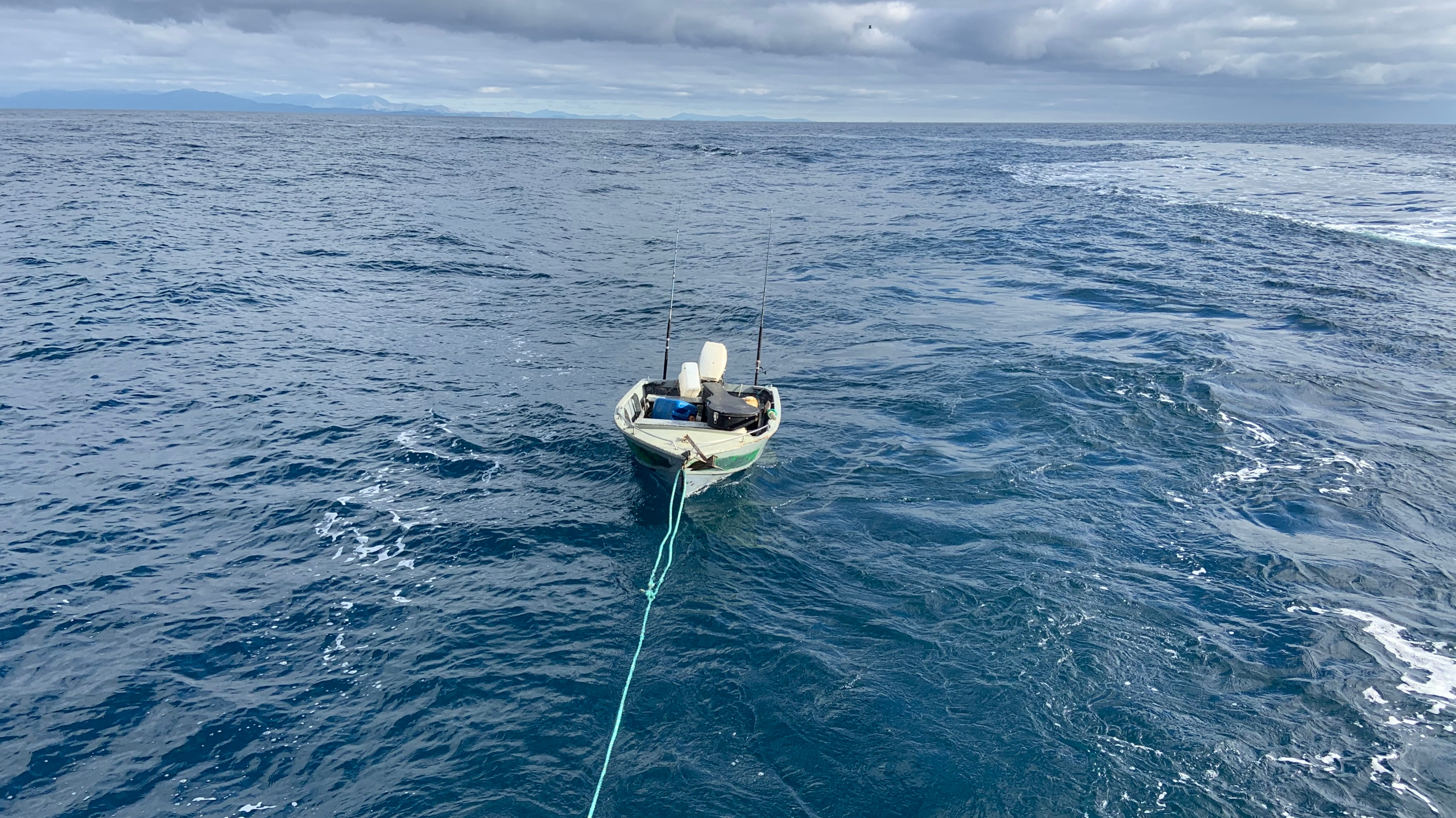 A teen who attempted a trip across the Cook Strait in a dinghy had to be rescued by authorities. (New Zealand Police)