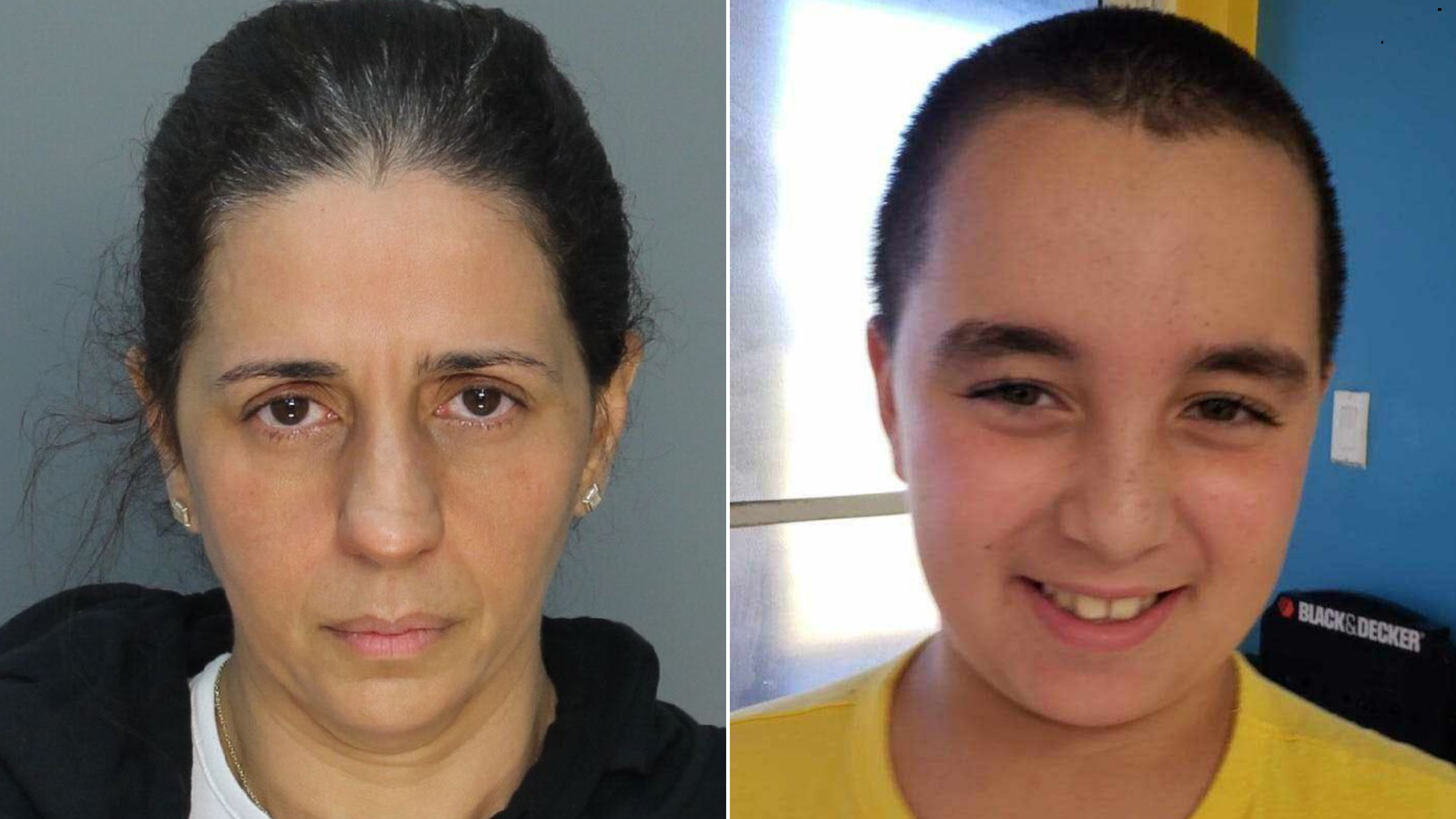 Patricia Ripley, left, faces murder charges in the death of her 9-year-old son, Alejandro, who is pictured on the right. (Miami-Dade Police Department via CNN)