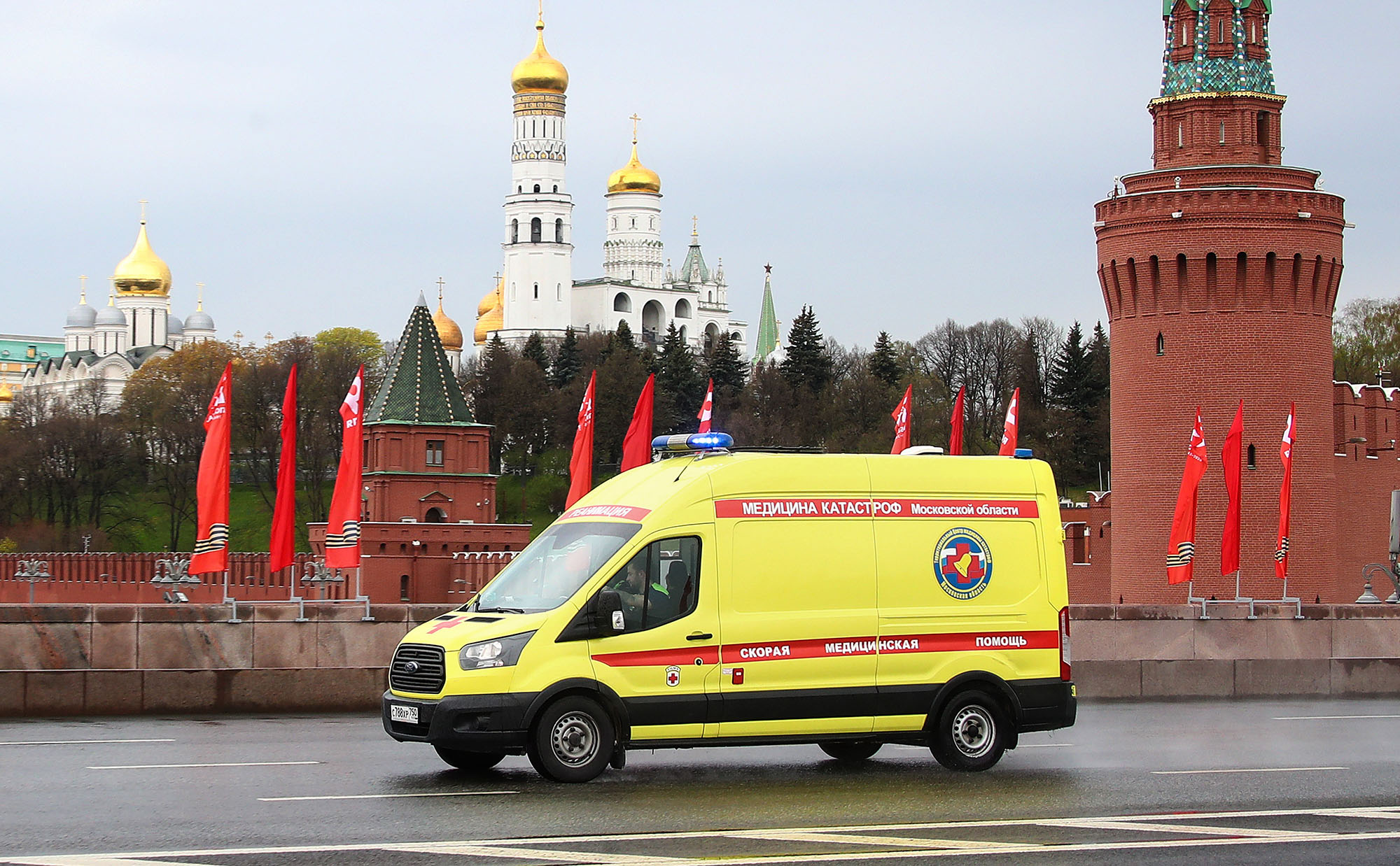 Three frontline healthcare workers have mysteriously fallen out of hospital windows in Russia over the past two weeks, heightening public attention to the working conditions for doctors and medical professionals amid the coronavirus pandemic. (Valery Sharifulin/TASS/Getty Images)