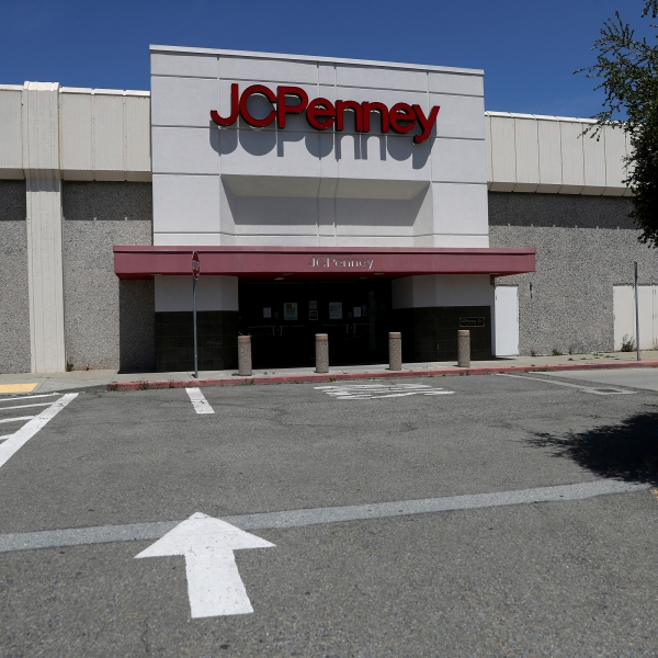 A view of a temporarily closed JCPenney store at The Shops at Tanforan Mall on May 15, 2020 in San Bruno, California. (Justin Sullivan/Getty Images)
