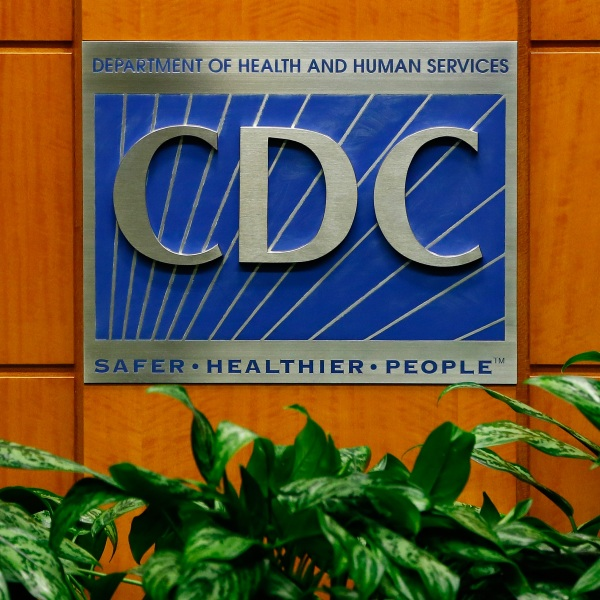 A podium with the logo for the Centers for Disease Control and Prevention at the Tom Harkin Global Communications Center on October 5, 2014, in Atlanta, Georgia. (Kevin C. Cox/Getty Images)