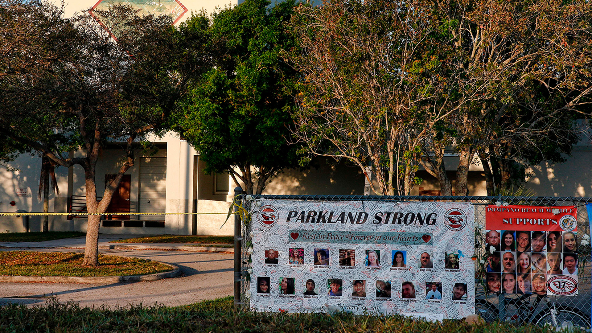 Marjory Stoneman Douglas High School is seen in an undated photo after the shooting. (Rhona Wise/AFP/Getty Images)
