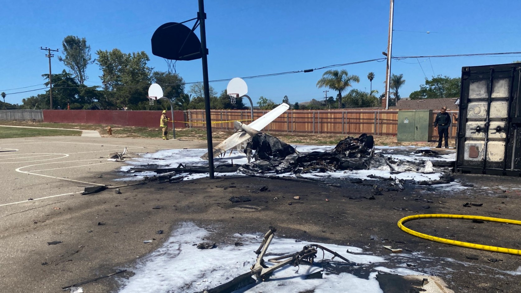 The Santa Maria Fire Department tweeted out a photo from the crash site.