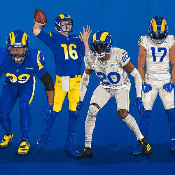 The Rams revealed their new uniforms Wednesday. (Los Angeles Rams)