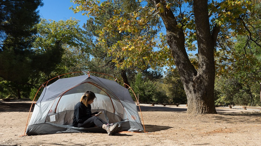 A woman enjoys solitude at a San Bernardino National Forest campsite in this undated photo. (San Bernardino National Forest)