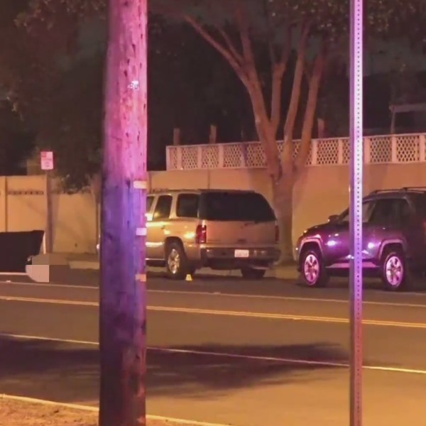 Police investigate a deadly hit-and-run crash in Santa Ana on May 18, 2020. (OnScene.TV)