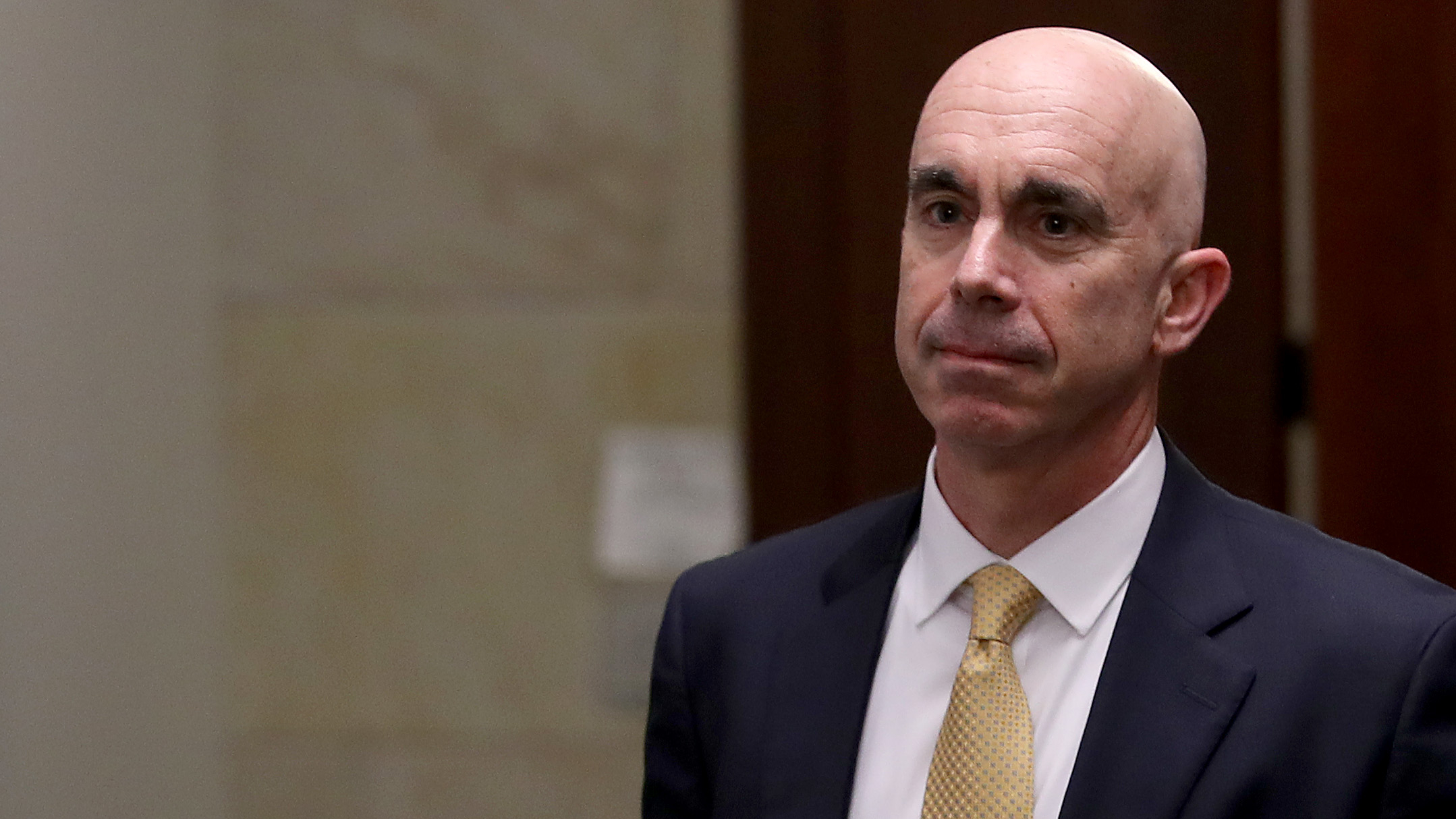 State Department Inspector General Steve Linick departs the U.S. Capitol Oct. 2, 2019. (Win McNamee / Getty Images)