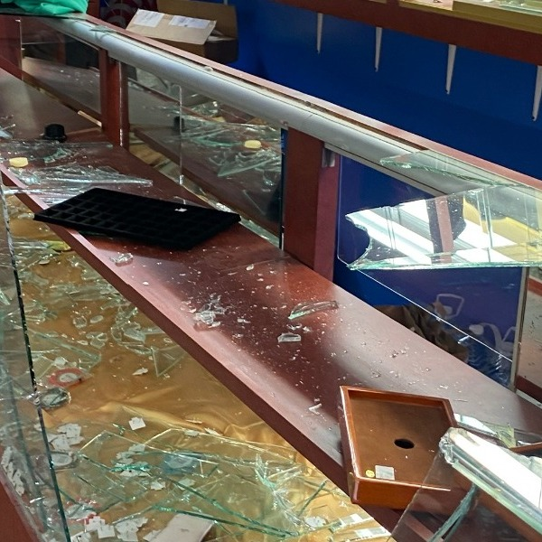 Pegah Shayesteh shared a photo of her father's jewelry store after it was looted on May 29, 2020. (GoFundMe)