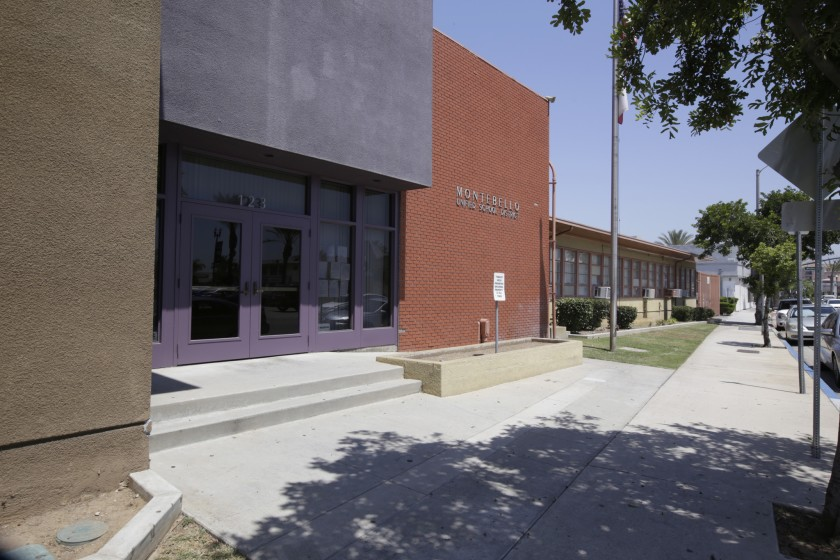 The Montebello Unified School District building is seen in an undated photo. (Glenn Koenig / Los Angeles Times )