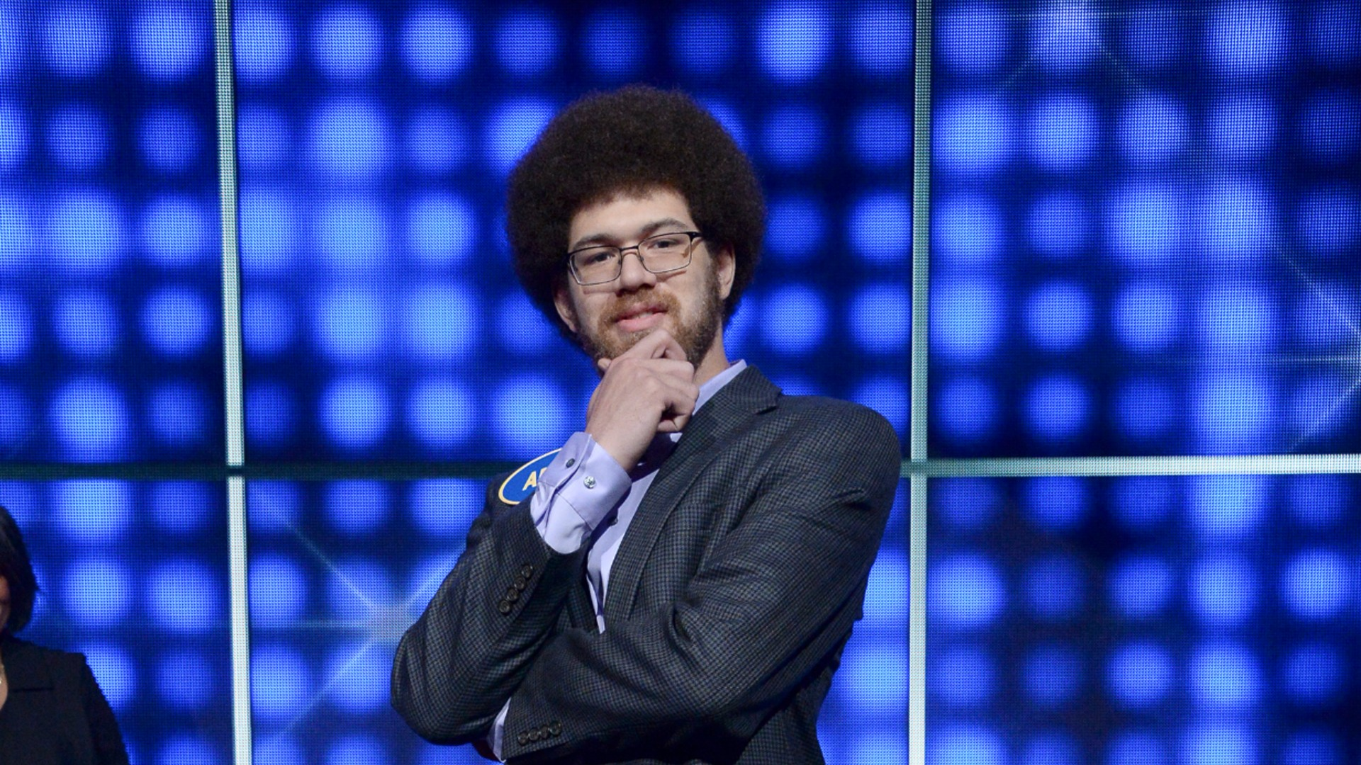 "Adam Abdul-Jabbar is seen in an image photo from an appearance on ""Celebrity Family Feud."" (Eric McCandless/Walt Disney Televisio"