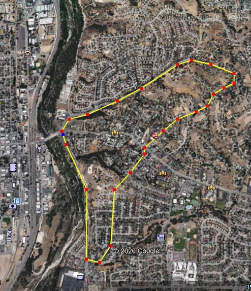 This map shows the area evacuated due to a brush fire in Paso Robles on June 22, 2020.